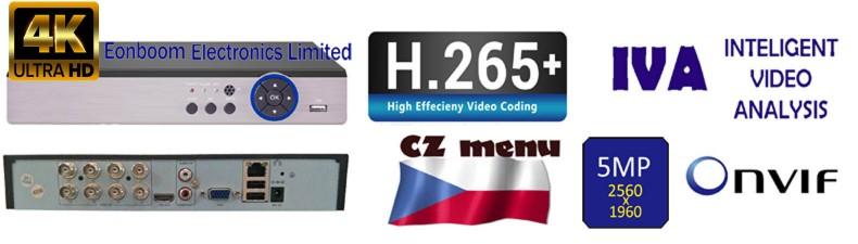 IVA, H265+, rekordery 5MPx, ONVIF