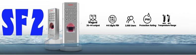 SF2 vodotěsná biometrická