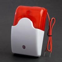 Červená drátová strobo siréna k GSM alarmu malá LM103