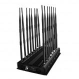 Nástěnná desková silná rušička 16 antén, komplexní zarušení JYT-1600  GSM 900/1800(DCS) , GSM 3G, WIFI + Bluetooth 2.4GHz, VHF, UHF, 4G LTE EU, 4G Wimax EU, Lojack, GPS, 433MHz, 868MHz, 315MHz, total 42W