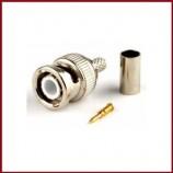BNC koncovka lisovací konektor pro koaxiální kabel (Ø6 mm), CU měd svorkovnice pro CCTV kamery