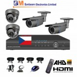 8CH 1080p AHD DVR kamerový set STARVIS CCTV - DVR s LAN a 2+2 dome+bullet AHD IR kamer, 4x ZOOM, vč. příslušenství, s kabeláží, CZ menu,P2P, HDMI, 2MPx