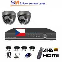 4CH 1080p AHD kamerový set STARVIS CCTV- DVR a 2x venkovní dome AHD IR kamer, 4xZOOM, vč. příslušenství,1920x1080px, CZ menu,P2P, HDMI, 2 MPx