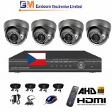 8CH 1080p AHD DVR kamerový set STARVIS CCTV - DVR s LAN a 4x venkovních AHD IR kamer, 4xZOOM, vč. příslušenství, s kabeláží, 1920x1080px/CH, CZ menu,P2P, HDMI, 2MPx