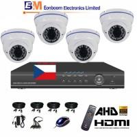 4CH 1080p AHD kamerový set STARVIS CCTV- DVR a 4x venkovní dome AHD IR kamer, 4xZOOM, BÍLÉ, vč. příslušenství,1920x1080px, CZ menu,P2P, HDMI, 2 MPx