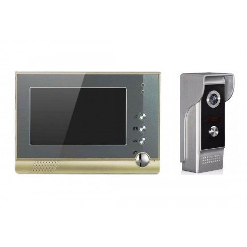 """Kovový video zvonek Zoneway XSL-V80P se 7"""" TFT obrazovkou Zoneway XSL-M4 s SD"""