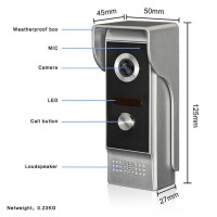 Kovový odolný videozvonek venkovní XSL-M4