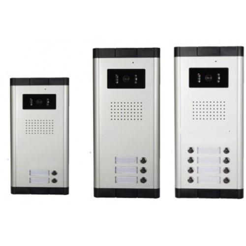 Kovový odolný video-zvonek ZONEWAY, venkovní pro 4 účastníky, 4ks tlačítek XSL-536-ZK1x4