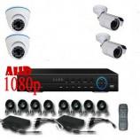 8CH 1080p AHD kamerový set - DVR s LAN a 2+2x dome + bullet AHD IR kamer, 1920x1080pxpx/CH, CZ menu,P2P, HDMI