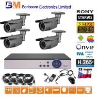 4CH 5MPx STARVIS AHD kamerový set CCTV - DVR s LAN a 4x venkovní vari 2,8-12mm bullet, 2688×1960px/CH, CZ menu,P2P, HDMI, IVA, H265+