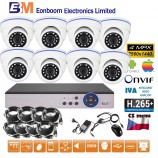 8CH 4MPx AHD kamerový set CCTV - DVR s LAN a 8x venkovních dome kamer, CZ menu,P2P, HDMI, IVA, H265+