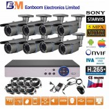 8CH 5MPx  STARVIS kamerový set CCTV - DVR s LAN a 8x vari 2,8-12mm bullet, 2688×1960px/CH, CZ menu,P2P, HDMI, IVA, H265+