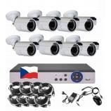 8CH 4MPx AHD kamerový set CCTV - DVR s LAN a 8x venkovní bullet , 2688×1520px/CH, CZ menu,P2P, HDMI, IVA, H265+