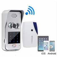 WIFI videotelefon / videozvonek Android, iOS, kódová klávesnice, slot na kartu SD/TF FV-DB02M