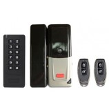 WiFi smart set D2 (zámek, dálkové ovládání, klávesnices RFID 125kHz), pro skleněné dveře, bateriové napájení, kovové provedení s plastovým krytem