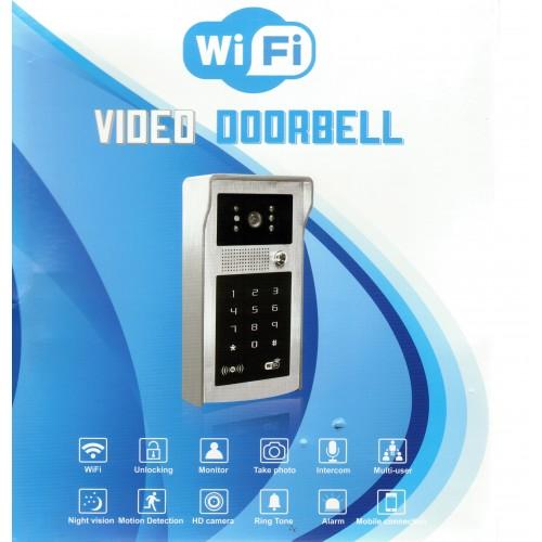 WIFI IP video telefon XLS-A8, WIFI, P2P, LAN, relé, RFID čtečka, klávesnice , antivandal