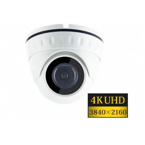 "8MPx 1/1,8"" AHD DOME Omnivision 4K UHD hybridní kamera ZONEWAY HD920, WDR, IK10, 4mm, EXIR IR 20m"
