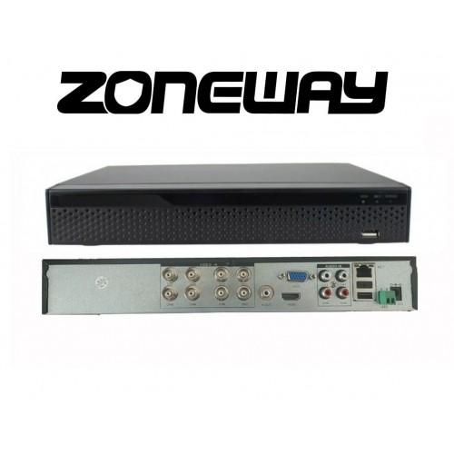 32CH IP (8CH AHD) 8MPx hybridní rekordér 4K XVR, ONVIF, H265, HDMI, RS485, P2P,UTC, CZ menu, AUDIO (ZONEWAY XVR3108DB)