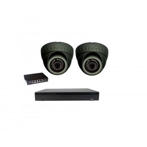 8MPx 4K IP Kamerový set Zoneway - 2x IP dome kamera, 4K 32CH NVR 3108 a POE switch 4+1