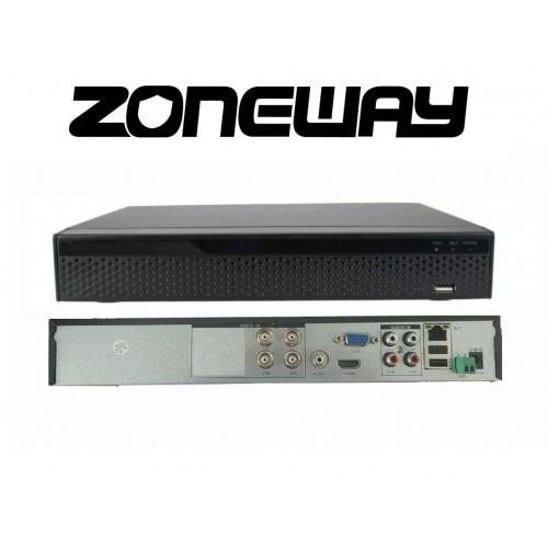 8CH IP (4CH AHD) 8MPx hybridní rekordér 4K XVR, ONVIF, RS485, H265, HDMI, P2P, CZ menu, AUDIO (ZONEWAY XVR2104D)