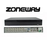 32CH IP (16 AHD) 8MPx hybridní rekordér 4K XVR, ONVIF, RS485, H265, HDMI, P2P, CZ menu, AUDIO (ZONEWAY XVR3116DB)