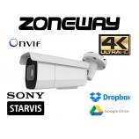 8MPx 4K H265 Omnivision IP kamera IR60m, POE, SD, AUDIO I/O, ALARM I/O, moto AF 3-11mm ONVIF, WDR, P2P, Dropbox, GOOGLE (ZONEWAY NC988)