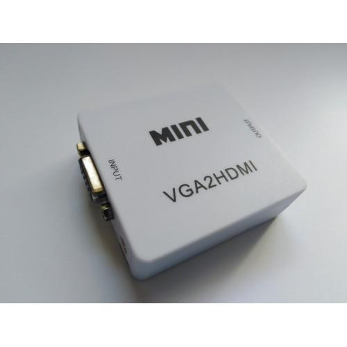 Mini VGA to HDMI konvertor - převodník VGA do HDMI (VGA2HDMI)