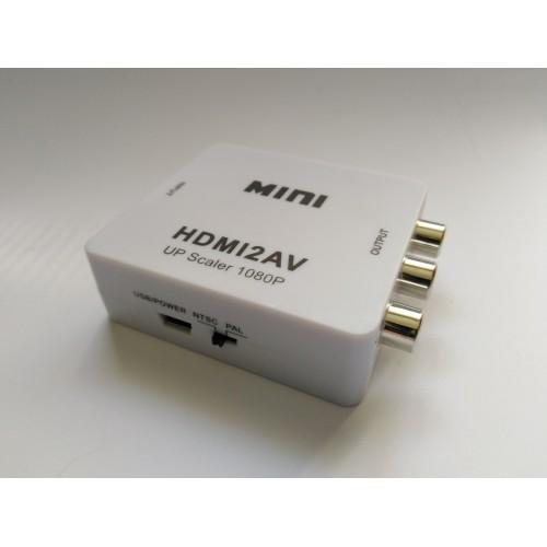 MINI konvertor HDMI to CVBS, převodník z HDMI na CVBS analog (HDMI2AV)