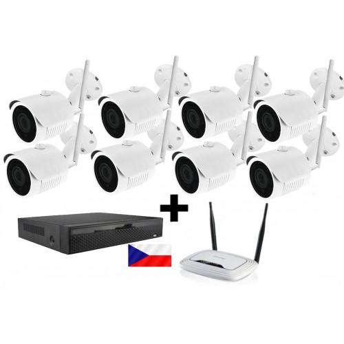 Kamerový WiFi / LAN IP set Zoneway - 8x 5MPx kamera NC950, rekordér NVR2104 a WiFi router