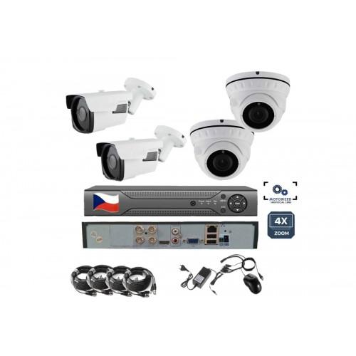 8CH 8MPx AHD kamerový set ZONEWAY VR2+2 - DVR s LAN a 2x dome a 2x bullet kamera