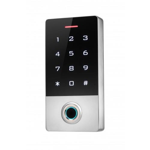 Biometrická WIFI přístupová autonomní čtečka s klávesnicí ZONEWAY TF1W