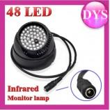 48 IR LED přísvit pro IP kamery infračervené noční vidění, černá základna