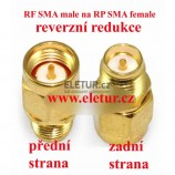 RF SMA male to RP SMA female redukce