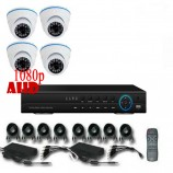8CH 1080p AHD kamerový set - DVR s LAN a 4x dome AHD IR kamer, 1920x1080px/CH, CZ menu,P2P, HDMI, 2MPx