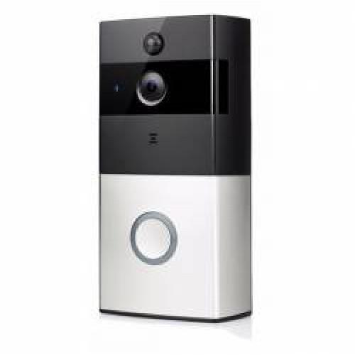 WIFI Bateriový videotelefon, videozvonek bezdrátový HD Doorbell 1080p, s monitorováním z mobilu, CZ aplikace FT-P200SM01 + SD 16GB