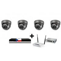 Kamerový 2MPx IP set, 4x MHK 316LP FULL HD, vari + NVR6004 + router + POE switch 4 + 1