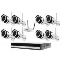 Kamerový WiFi IP set, 8x Zoneway NC850 2MPx + NVR 6109F + WiFi router