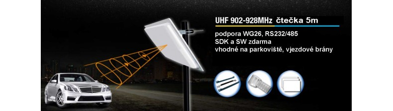 UHF čtečka s dlouhým dosahem